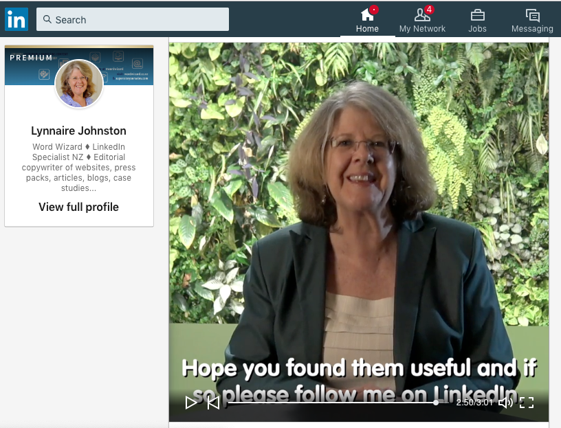 Image of a video on LinkedIn