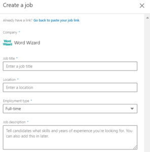 Create a job